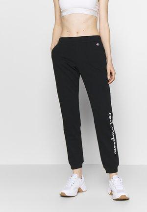 RIB CUFF PANTS - Pantalones deportivos - black