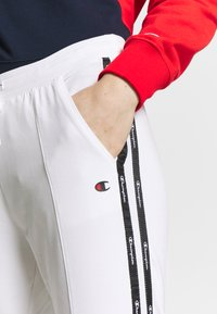 Champion - RIB CUFF PANTS - Pantalones deportivos - white - 4