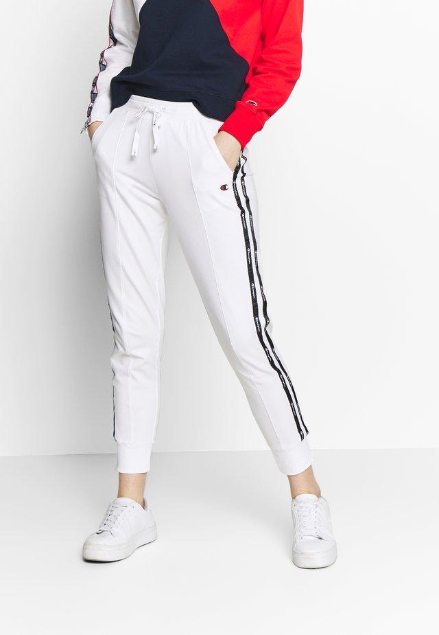 RIB CUFF PANTS - Teplákové kalhoty - white