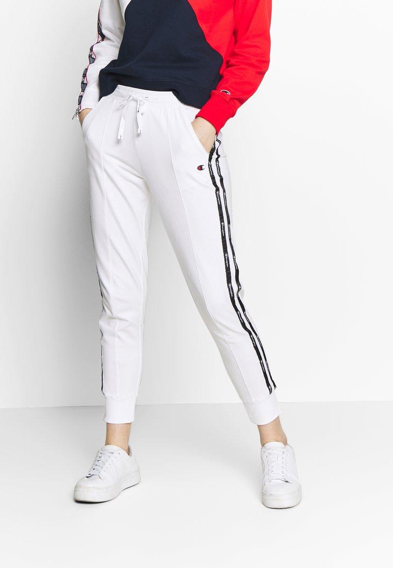 Champion - RIB CUFF PANTS - Pantalones deportivos - white