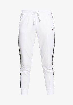 RIB CUFF PANTS - Verryttelyhousut - white