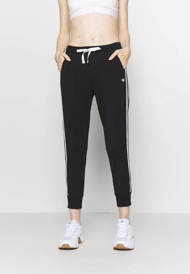 RIB CUFF PANTS - Spodnie treningowe - black