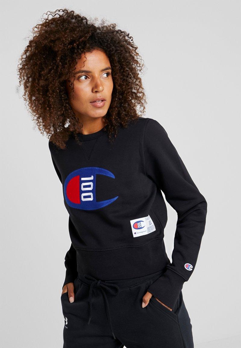 Champion - WOMENS CROP CREWNECK - Sweatshirt - black