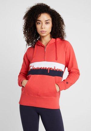 HOODED HALF ZIP  - Jersey con capucha - red