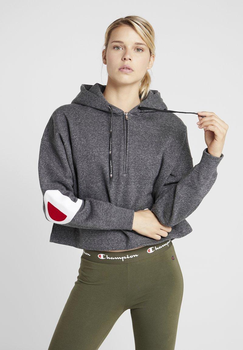 Champion - HOODED - Jersey con capucha - grey dark melange