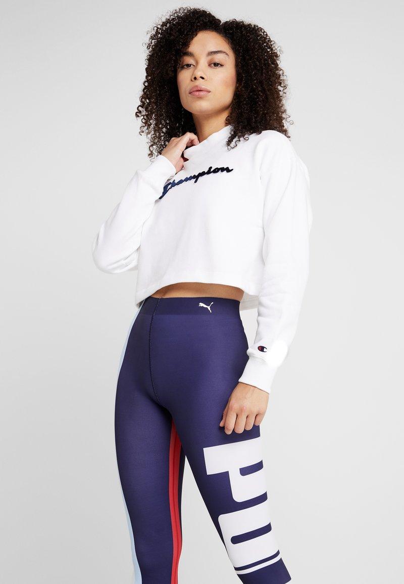 Champion - HIGH NECK - Sweatshirt - white