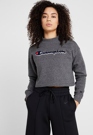 HIGH NECK - Sweatshirt - mottled dark grey