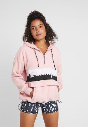 HOODED HALF ZIP - Sweat à capuche - pink