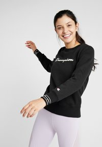 Champion - CREWNECK - Sweatshirt - black - 0