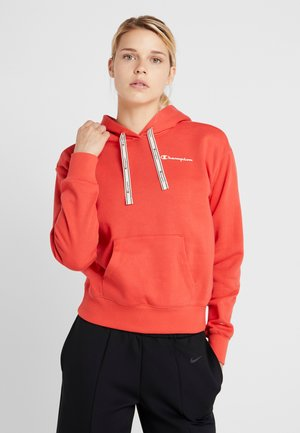 HOODED CROP - Luvtröja - red