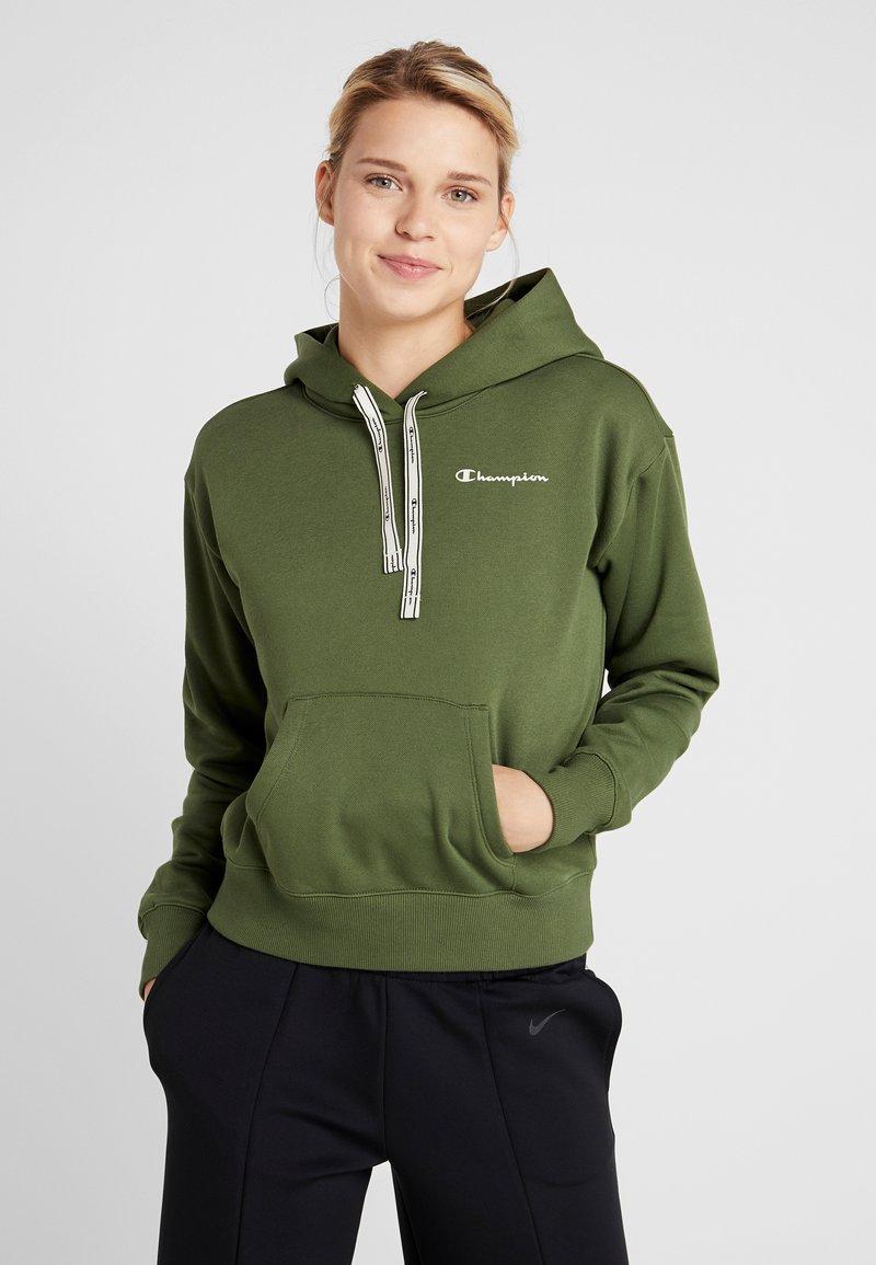 Champion - HOODED CROP - Hættetrøjer - khaki
