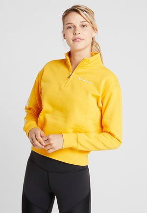 CROP TOP - Sweatshirt - yellow