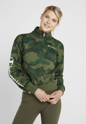 CROP  - Sweatshirt - green
