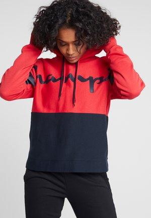 HALF ZIP - Jersey con capucha - red