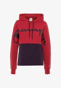 Champion - HALF ZIP - Jersey con capucha - red - 3
