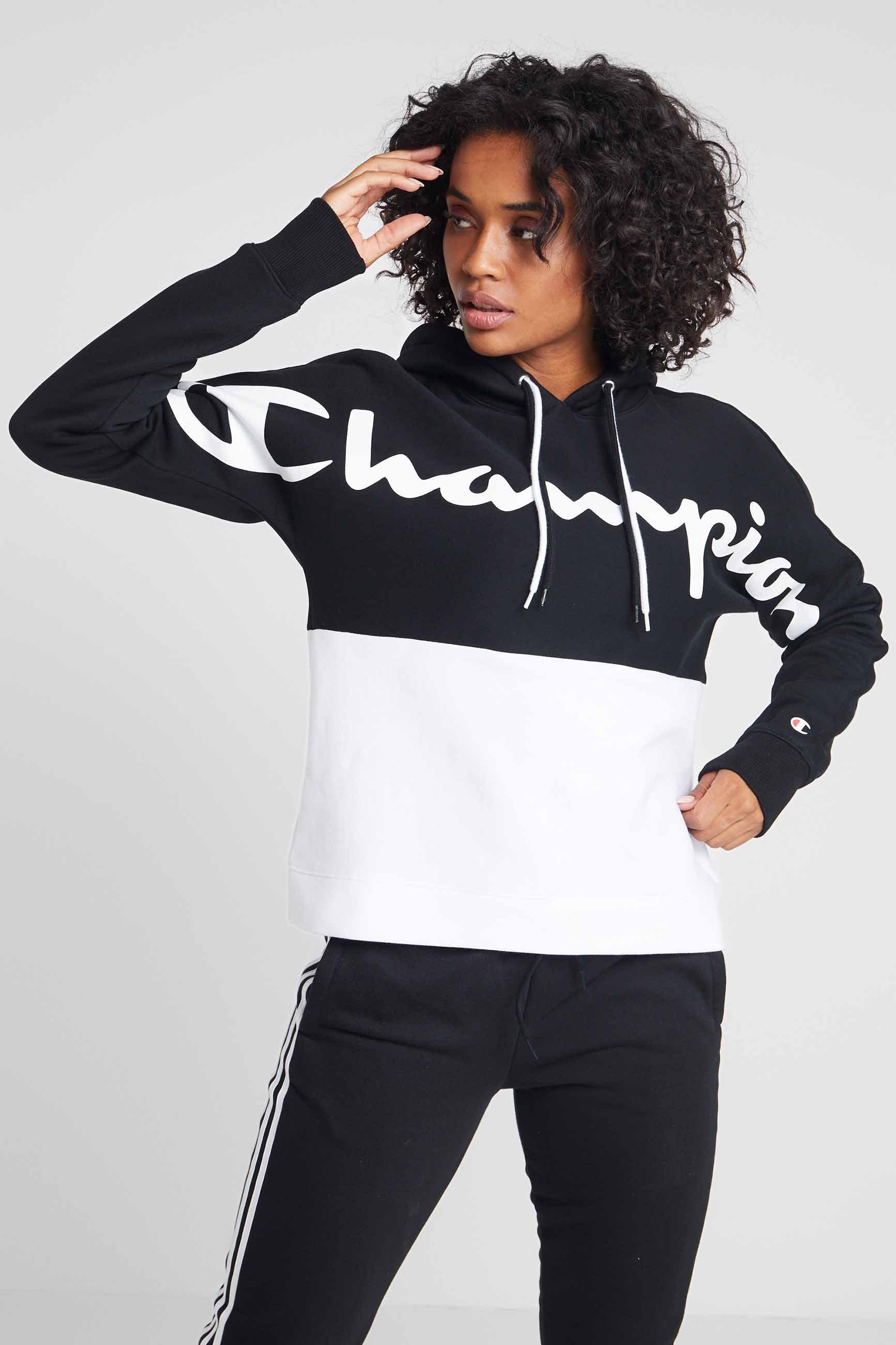 white À Champion ZipSweat Capuche Half Black nOXN0kZ8Pw