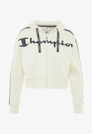 HOODED FULL ZIP - Huvtröja med dragkedja - offwhite