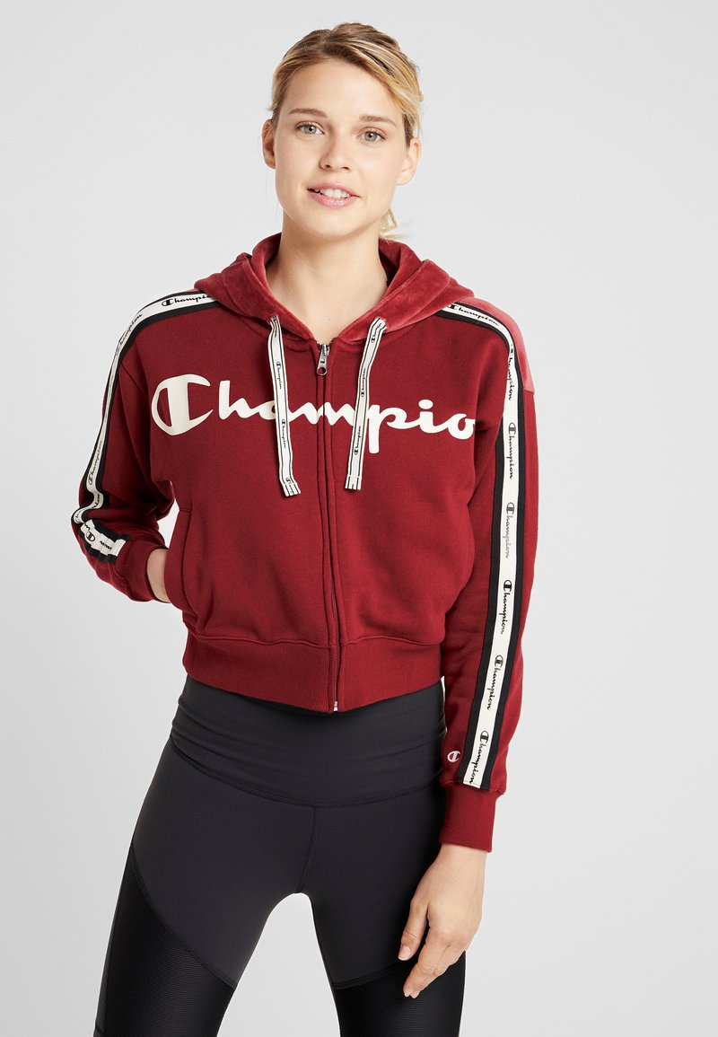 Champion - HOODED FULL ZIP - Sweatjacke - red