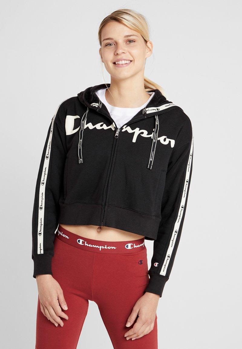 Champion - HOODED FULL ZIP - Sweatjakke /Træningstrøjer - black