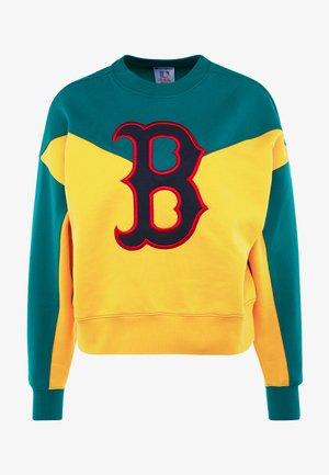 MLB BOSTON RED SOX CREWNECK - Equipación de clubes - yellow/green