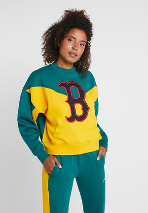 MLB BOSTON RED SOX CREWNECK - Article de supporter - yellow/green