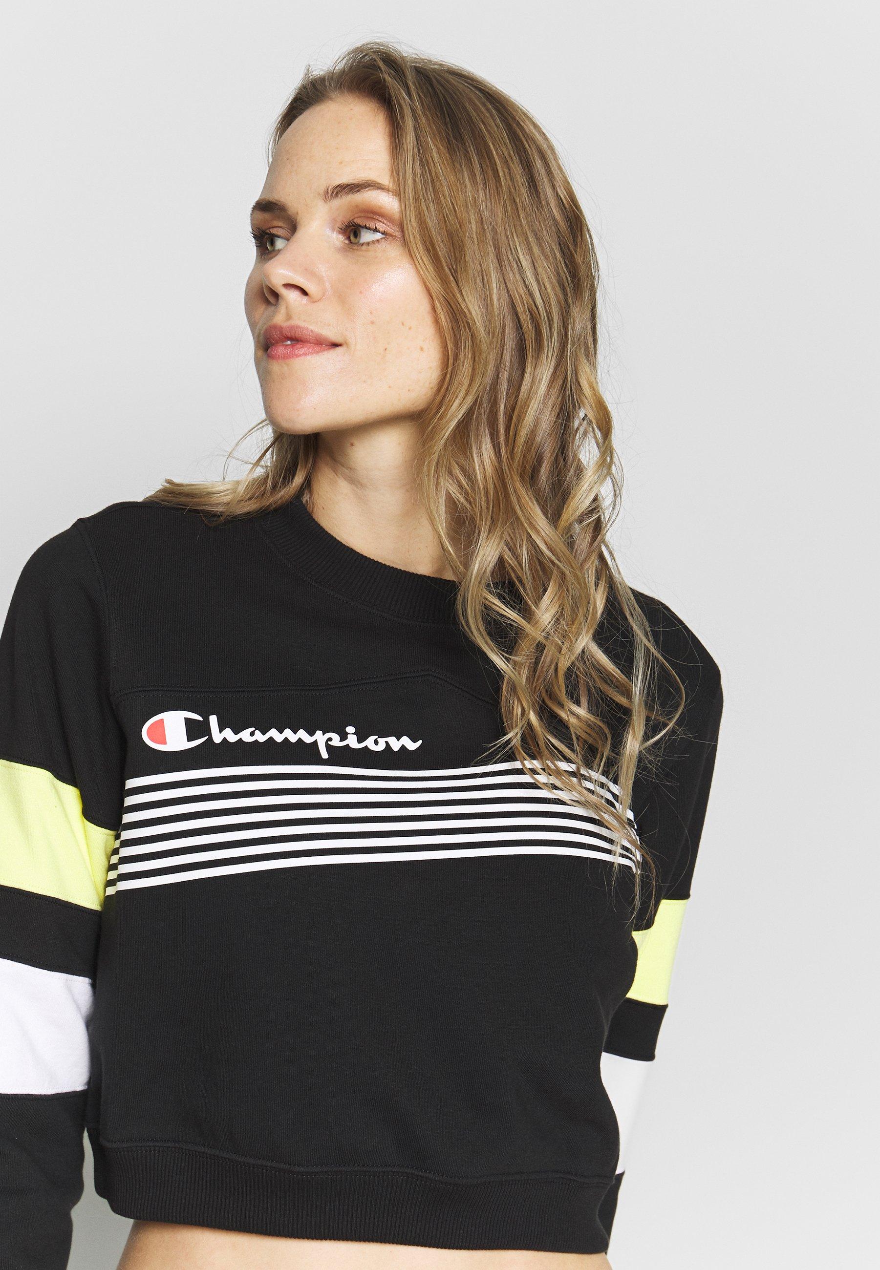 Champion Crewneck Croptop - Sweatshirt Black