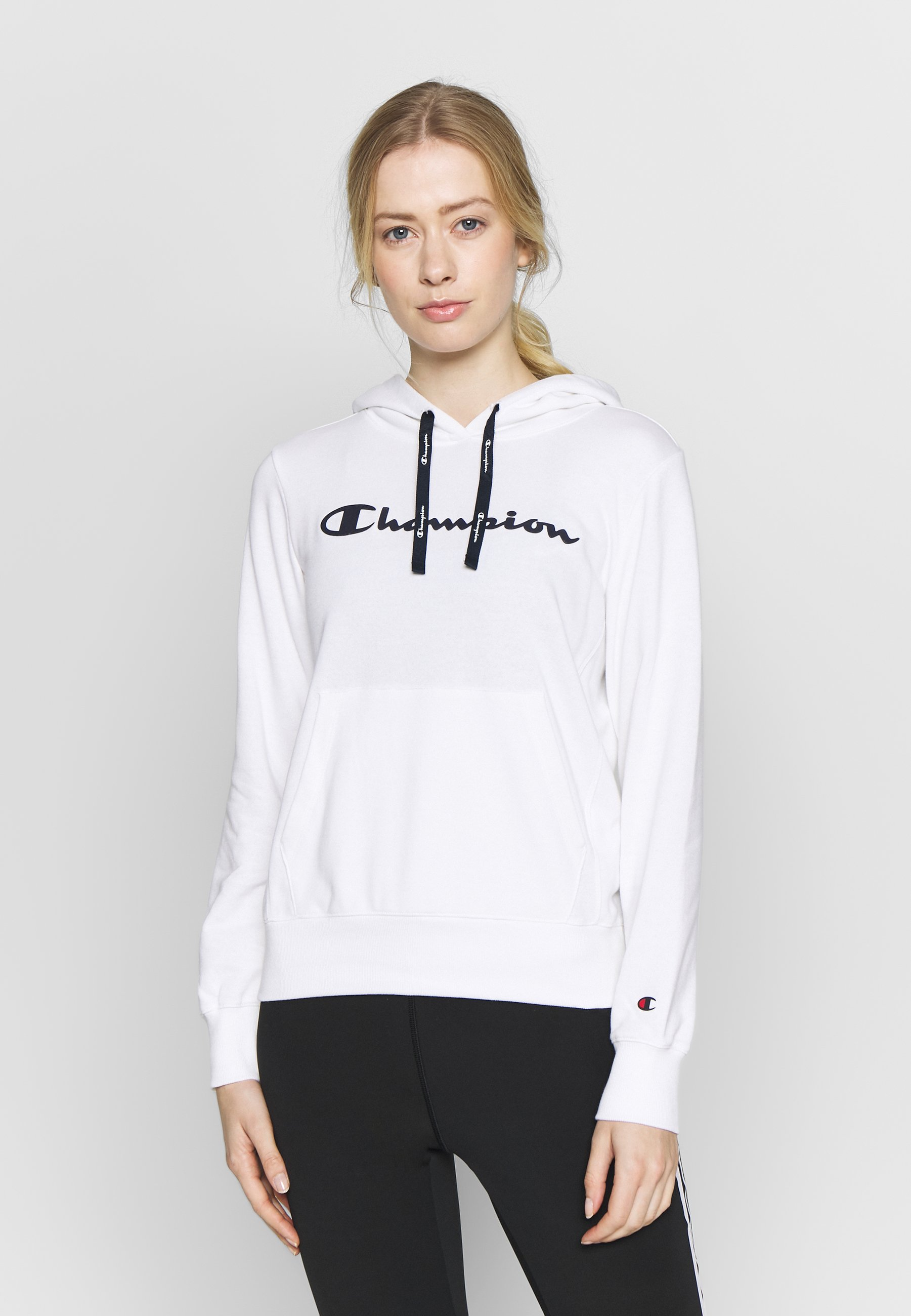 Champion HOODED - Bluza z kapturem - white