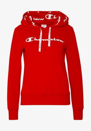 HOODED - Felpa con cappuccio - red
