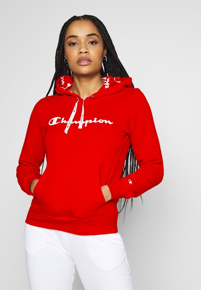 HOODED - Bluza z kapturem - red