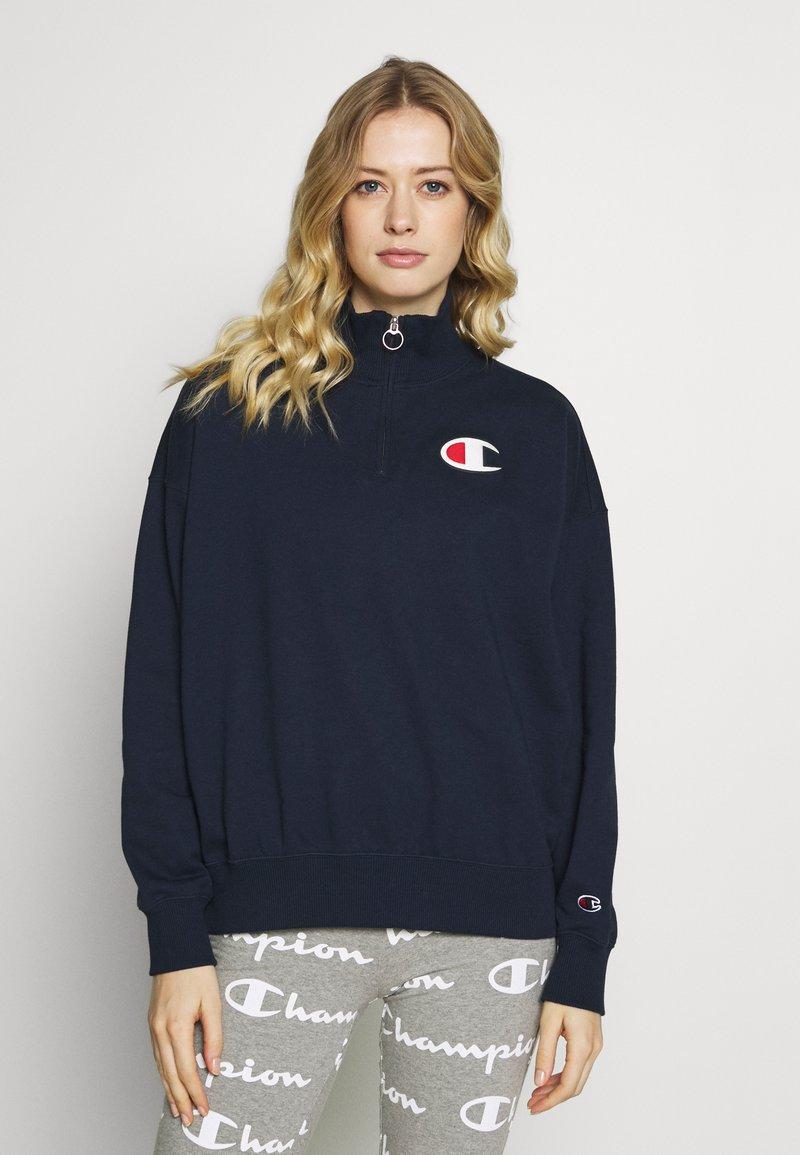 Champion - HIGH NECK - Sweatshirt - dark-blue denim