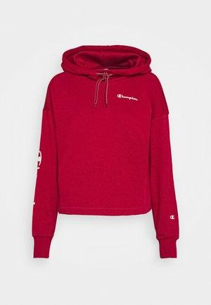 HOODED CROP TOP LEGACY - Hoodie - dark red