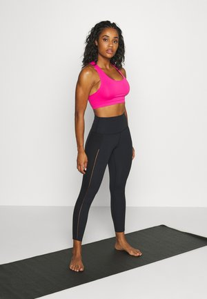 SEAMLESS 2 PACK - Sport BH - neon pink/black