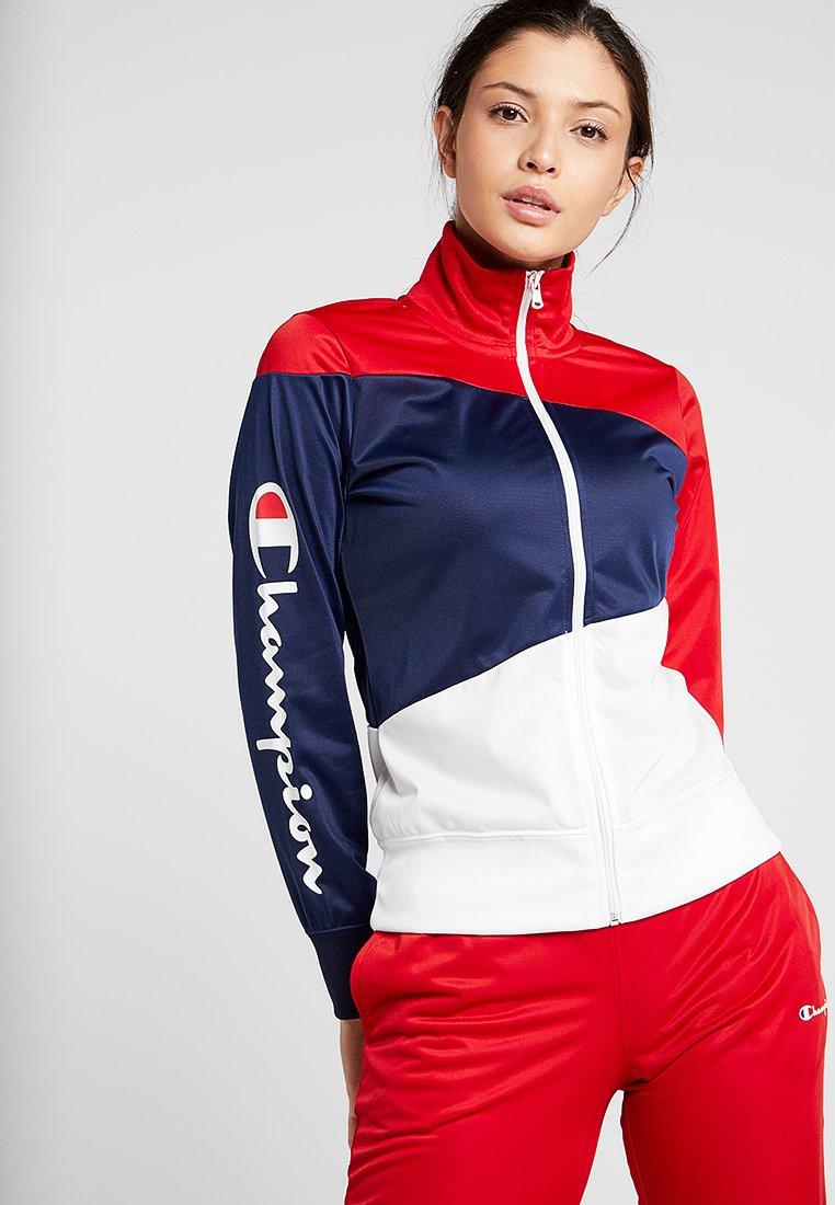 Champion - HOODED FULL ZIP - Trainingsanzug - red/blue/white