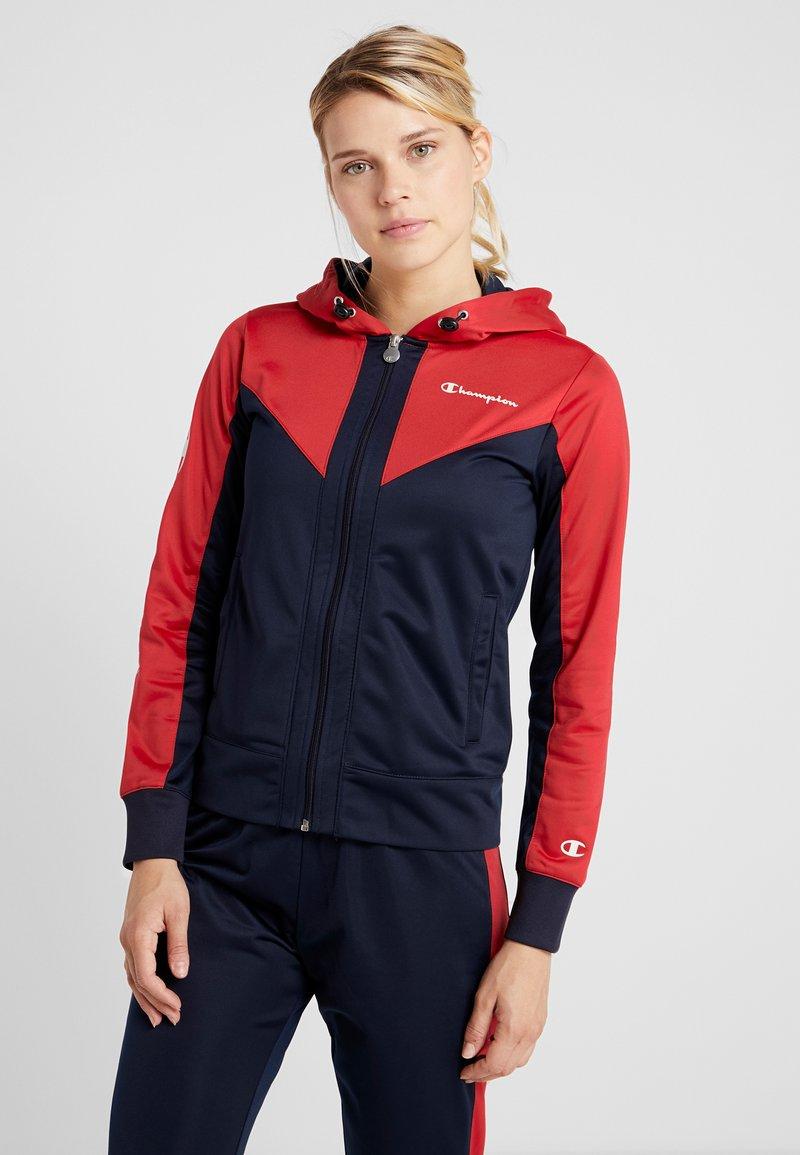 Champion - HOODED FULL ZIP SUIT - Trainingsanzug - dark blue