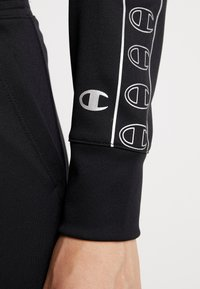 Champion - HOODED FULL ZIP CROP - Survêtement - black - 6