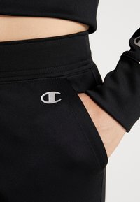 Champion - HOODED FULL ZIP CROP - Survêtement - black - 8