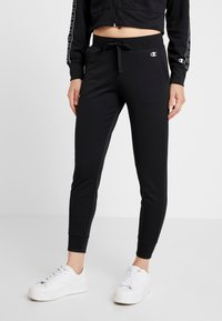 Champion - HOODED FULL ZIP CROP - Survêtement - black - 3