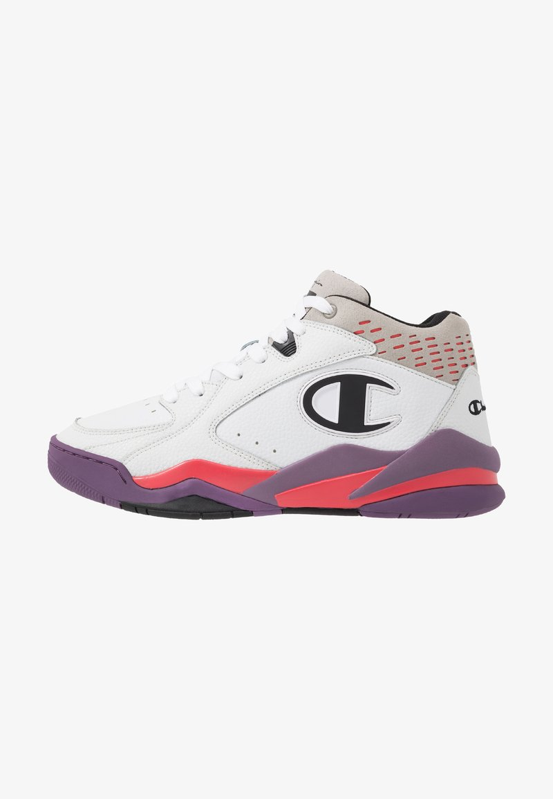 Champion - MID CUT SHOE ZONE MID 90'S - Obuwie do koszykówki - white/violet/fux/black