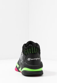 Champion - MID CUT SHOE ZONE MID 90'S - Indoorskor - black/fluo lime/fluo fuxia - 3