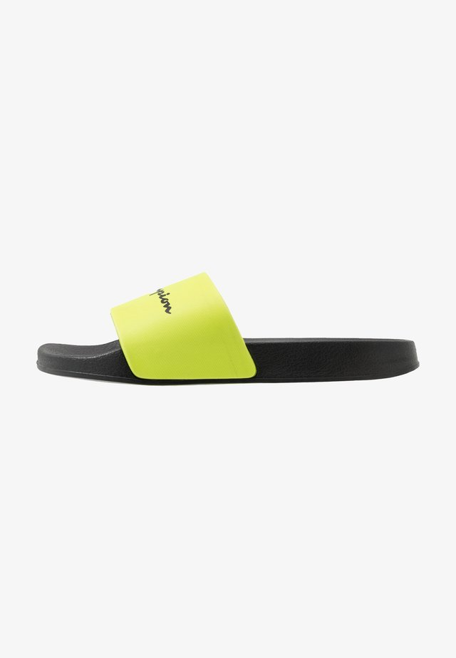 BELIZE - Badslippers - fluoyellow/black