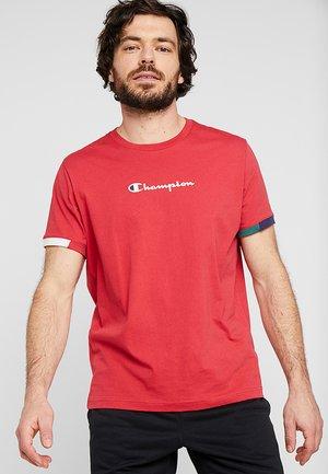 RINGER - T-shirt imprimé - red/off white/blue/green