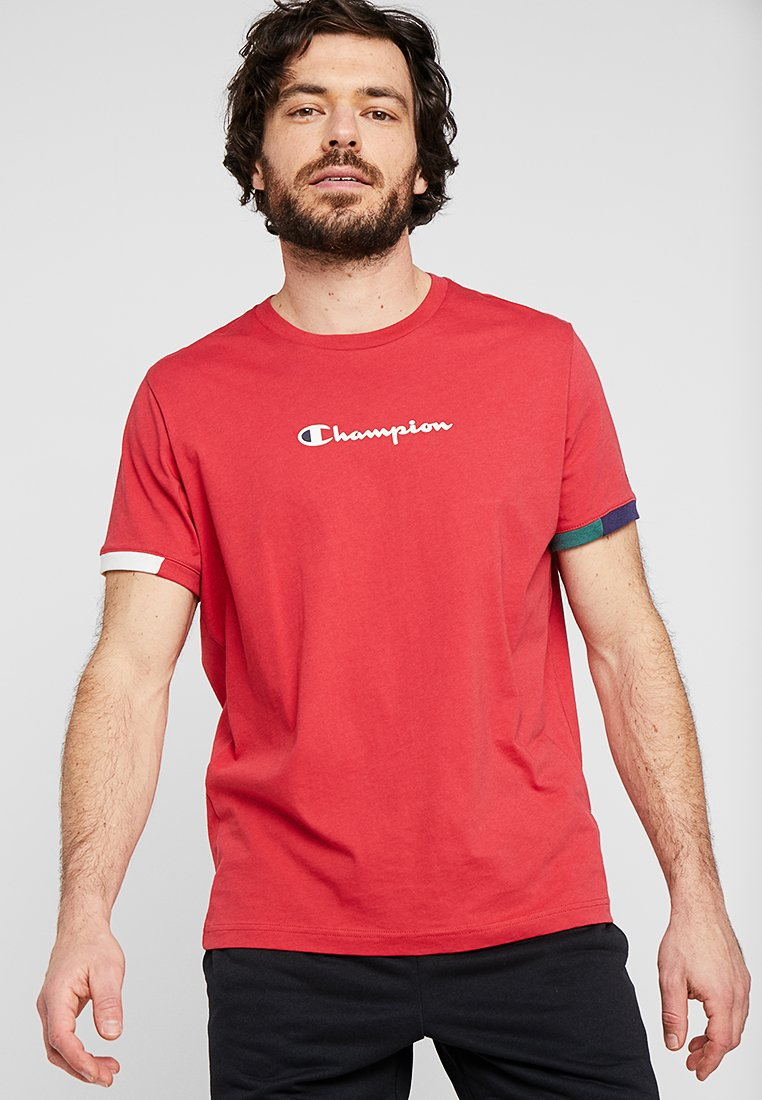 Champion - RINGER - Print T-shirt - red/off white/blue/green
