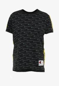 Champion - CREWNECK  - Print T-shirt - black - 4
