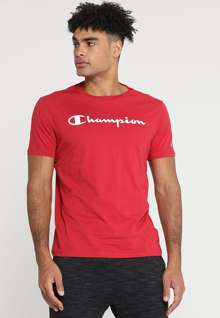 Champion - CREWNECK  - Print T-shirt - dark red