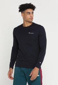 Champion - LONG SLEEVE  - Langærmede T-shirts - dark blue - 0