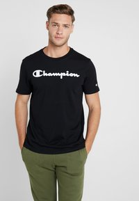 Champion - CREWNECK - T-shirt z nadrukiem - black - 0