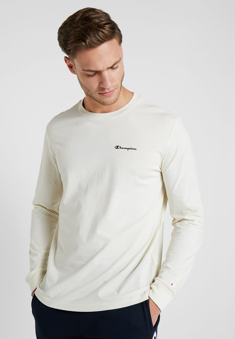 Champion - LONG SLEEVE CREWNECK - Long sleeved top - off-white
