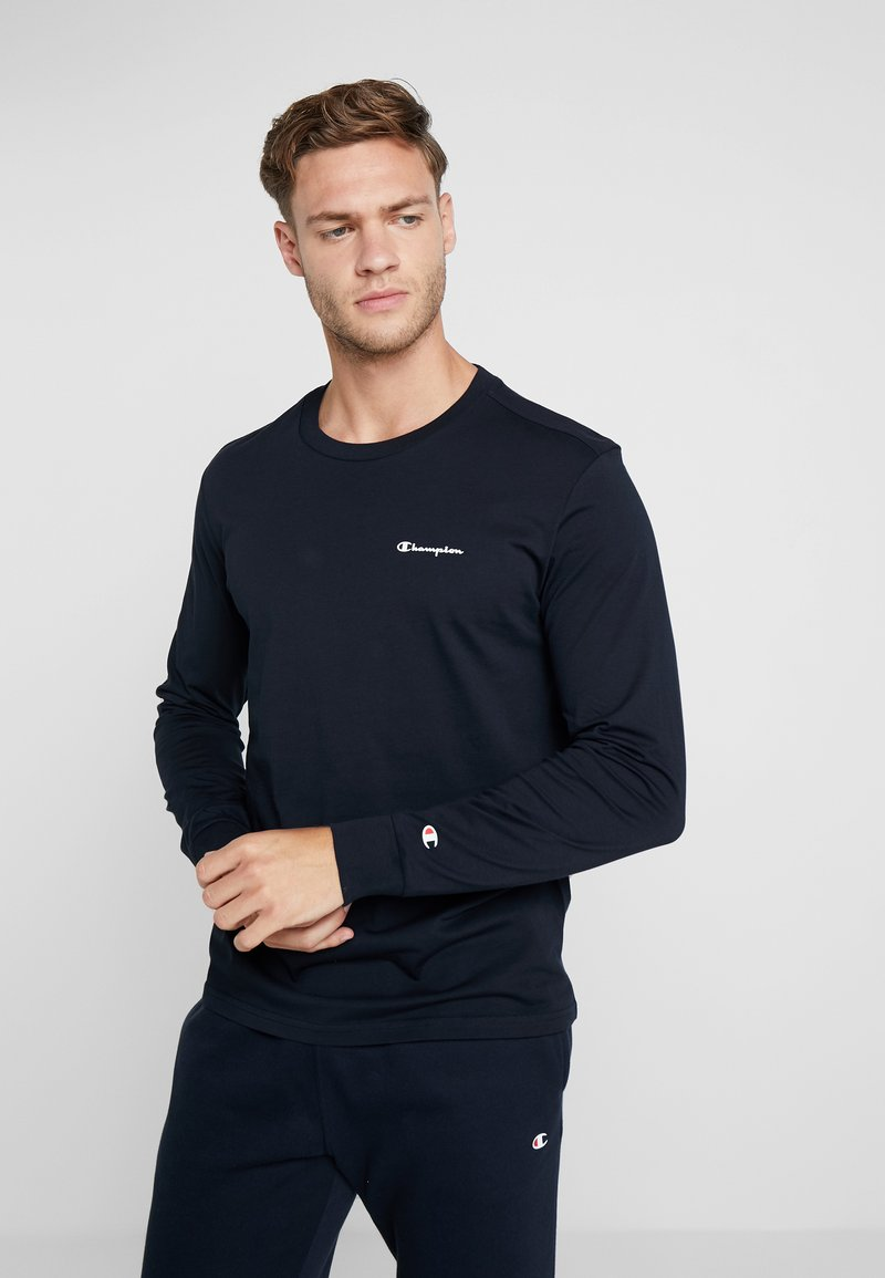 Champion - LONG SLEEVE CREWNECK - Langarmshirt - dark blue