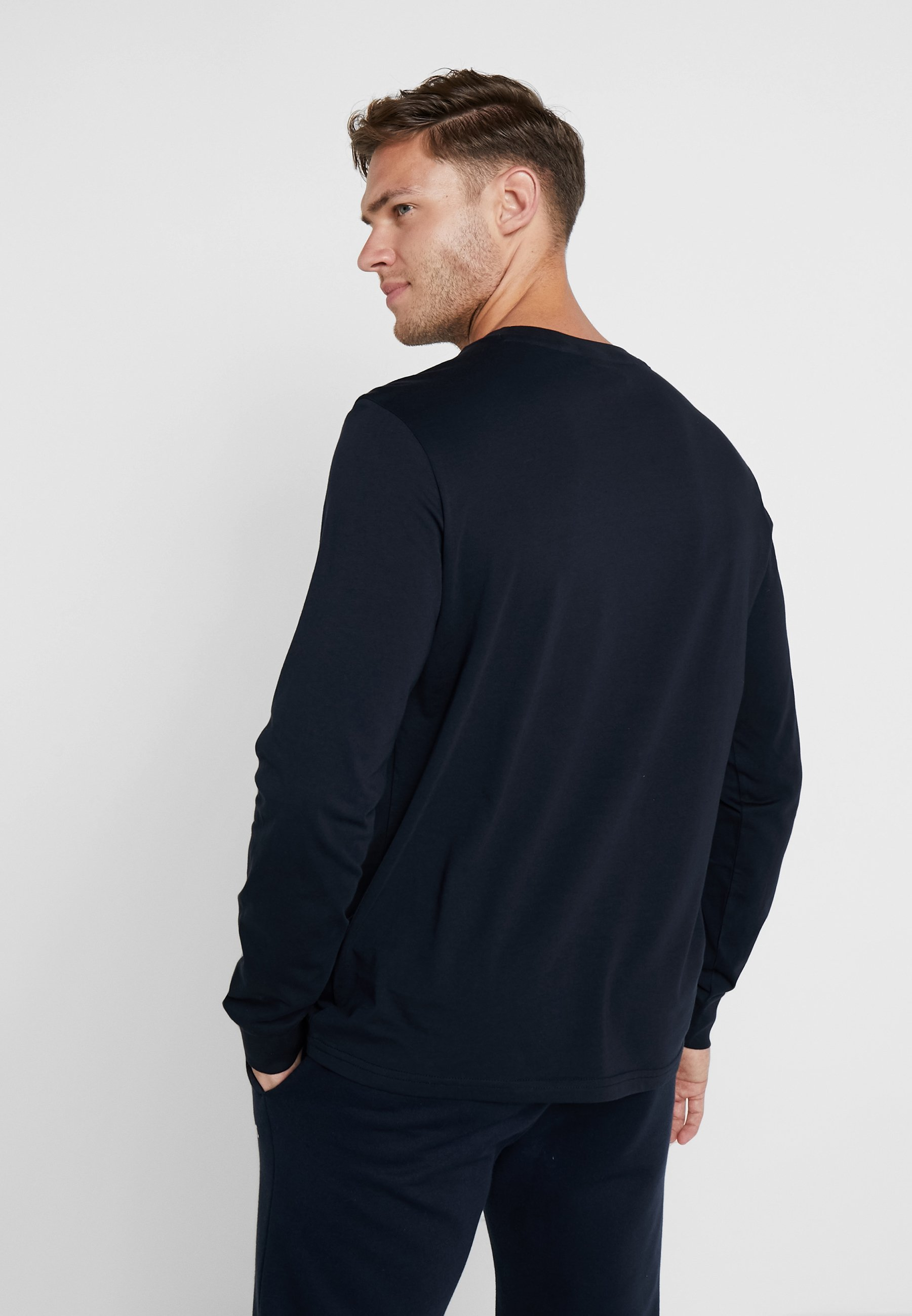 Longues Manches Blue Dark À Champion Long CrewneckT shirt Sleeve 8nwOkX0PN