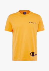 Champion - CREWNECK  - Print T-shirt - yellow - 4